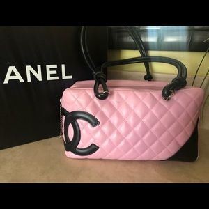 Chanel Ligne Cambon Bowling Bag Pink
